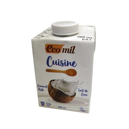 CREMA DE COCO CUISINE ECOMIL 500 ML SIN GLUTEN VEGANO BIO